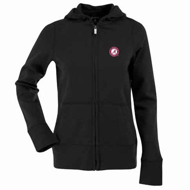 Alabama Womens Zip Front Hoody Sweatshirt (Color: Black)