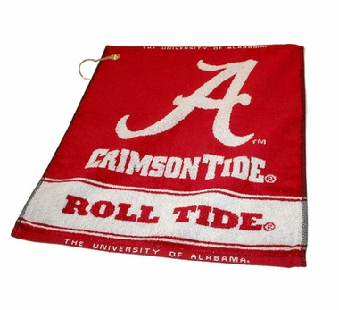Alabama Woven Golf Towel