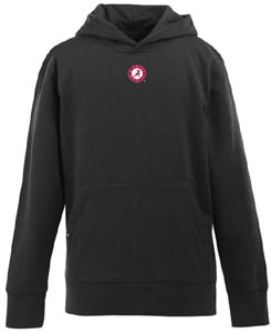 Alabama YOUTH Boys Signature Hooded Sweatshirt (Team Color: Black) - Large