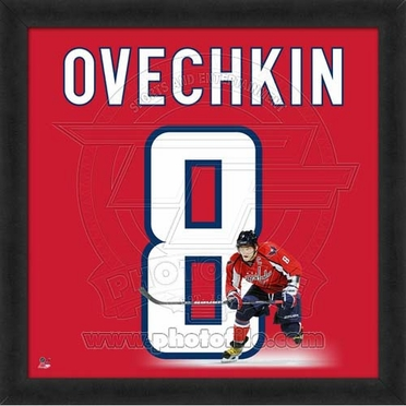 "Alex Ovechkin, Capitals UNIFRAME 20"" x 20"""