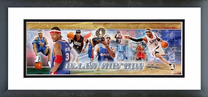 Allen Iverson - All Star Game MVP  Framed / Double Matted Photoramic