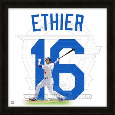 "Andre Ethier, Dodgers UNIFRAME 20"" x 20"""