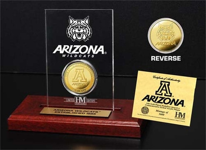 Arizona Wildcats University of Arizona 24KT Gold Coin Etched Acrylic