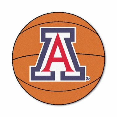 Arizona 27 Inch Basketball Shaped Rug