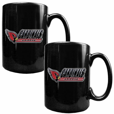 Arizona Cardinals 2 Piece Coffee Mug Set (Wordmark)