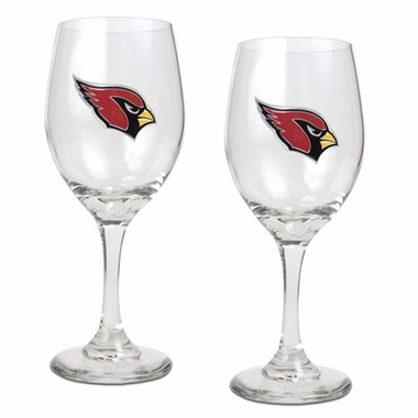 Arizona Cardinals 2 Piece Wine Glass Set