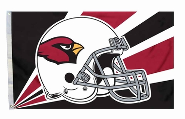 Arizona Cardinals 3x5 Helmet Design Flag