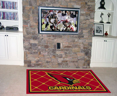 Arizona Cardinals 4 Foot x 6 Foot Rug