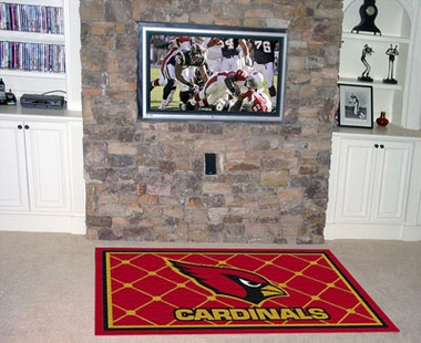 Arizona Cardinals 5 Foot x 8 Foot Rug