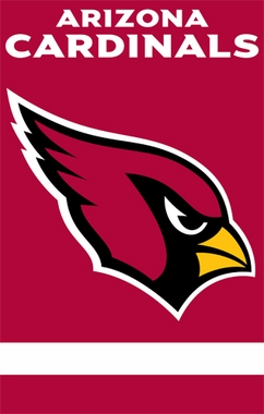 Arizona Cardinals Applique Banner Flag