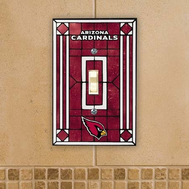 Arizona Cardinals Art Glass Lightswitch Cover