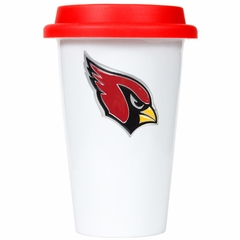 Arizona Cardinals Ceramic Travel Cup (Team Color Lid)