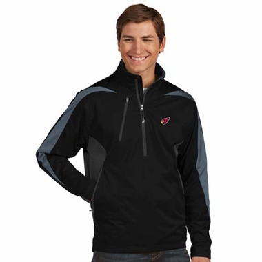 Arizona Cardinals Mens Discover 1/4 Zip Pullover (Team Color: Black)