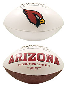 Arizona Cardinals Full Size Embroidered Signature Series Football