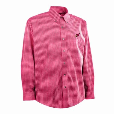 Arizona Cardinals Mens Esteem Check Pattern Button Down Dress Shirt (Team Color: Red)