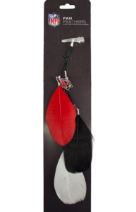 Arizona Cardinals Feather Hair Clip