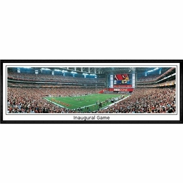 Arizona Cardinals Inaugural Game Framed Panoramic Print