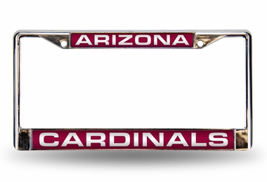 Arizona Cardinals Laser Etched Chrome License Plate Frame