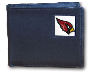 Arizona Cardinals Leather Bifold Wallet (F)