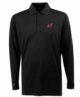 Arizona Cardinals Mens Long Sleeve Polo Shirt (Color: Black)