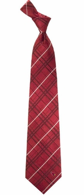 Arizona Cardinals Oxford Stripe Woven Silk Necktie