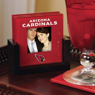 Arizona Cardinals Photo Coaster Set