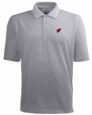 Arizona Cardinals Mens Pique Xtra Lite Polo Shirt (Color: Gray)