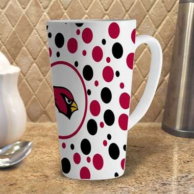 Arizona Cardinals Polkadot 16 oz. Ceramic Latte Mug