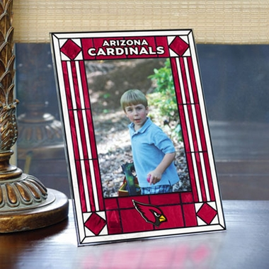 Arizona Cardinals Portrait Art Glass Picture Frame