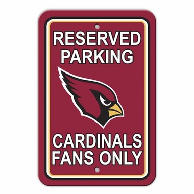 Arizona Cardinals Plastic Reserved Parking Sign (P)