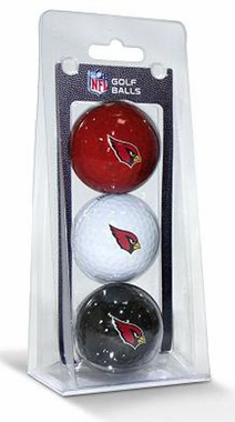 Arizona Cardinals Set of 3 Multicolor Golf Balls