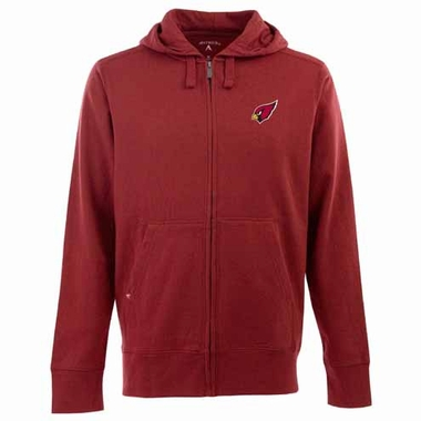 Arizona Cardinals Mens Signature Full Zip Hooded Sweatshirt (Team Color: Red)