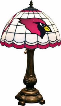 Arizona Cardinals Stained Glass Table Lamp