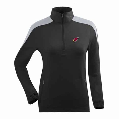 Arizona Cardinals Womens Succeed 1/4 Zip Performance Pullover (Team Color: Black)