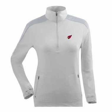 Arizona Cardinals Womens Succeed 1/4 Zip Performance Pullover (Color: White)