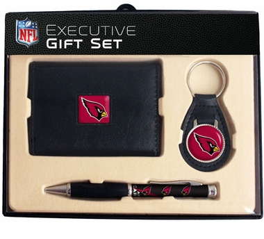 Arizona Cardinals Trifold Wallet Key Fob and Pen Gift Set