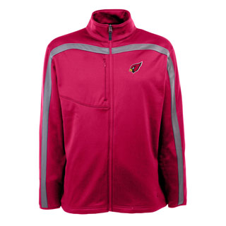 Arizona Cardinals Mens Viper Full Zip Performance Jacket (Team Color: Red)