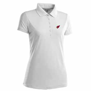 Arizona Cardinals Womens Pique Xtra Lite Polo Shirt (Color: White) - Small