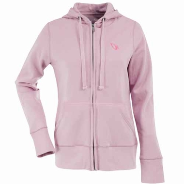 Arizona Cardinals Womens Zip Front Hoody Sweatshirt (Color: Pink)