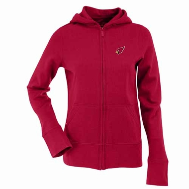 Arizona Cardinals Womens Zip Front Hoody Sweatshirt (Team Color: Red)