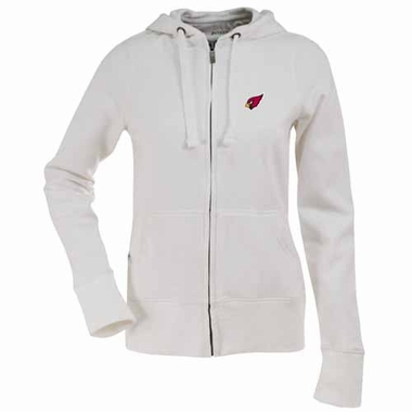 Arizona Cardinals Womens Zip Front Hoody Sweatshirt (Color: White)