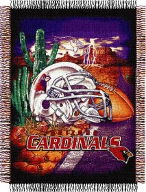Arizona Cardinals Woven Tapestry Throw Blanket