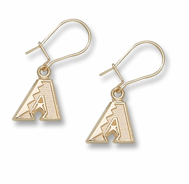 Arizona Diamondbacks 10K Gold Post or Dangle Earrings