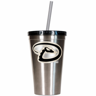 Arizona Diamondbacks 16oz Stainless Steel Insulated Tumbler with Straw
