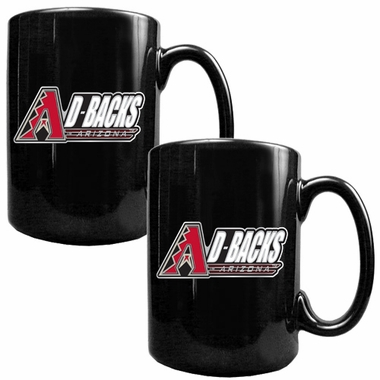 Arizona Diamondbacks 2 Piece Coffee Mug Set (Wordmark)