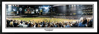 Arizona Diamondbacks 2001 World Series Champions Framed Panoramic Print