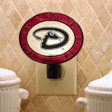 Arizona Diamondbacks Art Glass Night Light