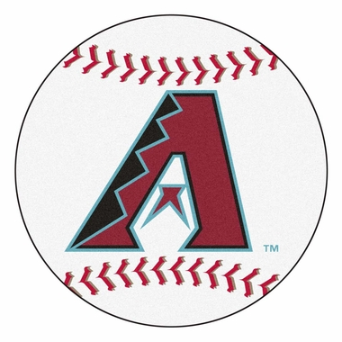 Arizona Diamondbacks 27 Inch Baseball Shaped Rug