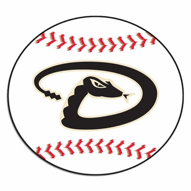Arizona Diamondbacks Baseball Shaped Rug