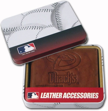 Arizona Diamondbacks Embossed Leather Bifold Wallet